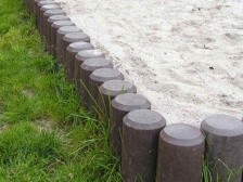 Recycled Mixed Plastic Palisade without Point 80mm dia